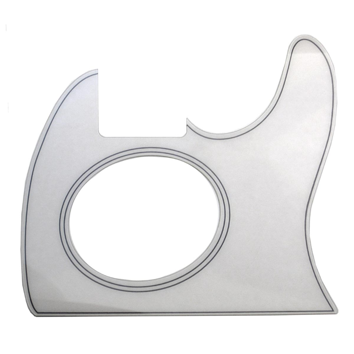 Telecoustic Style Acoustic Pickguard - Bone / Antiqued White - CUSTOM ORDER