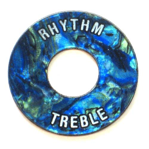 Gibson ®  Style Toggle Switch Trim Ring - Faux Blue Abalone - SPECIAL ORDER - 7 BUSINESS DAYS