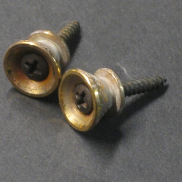 Relic Gold Fender Style Strap Buttons