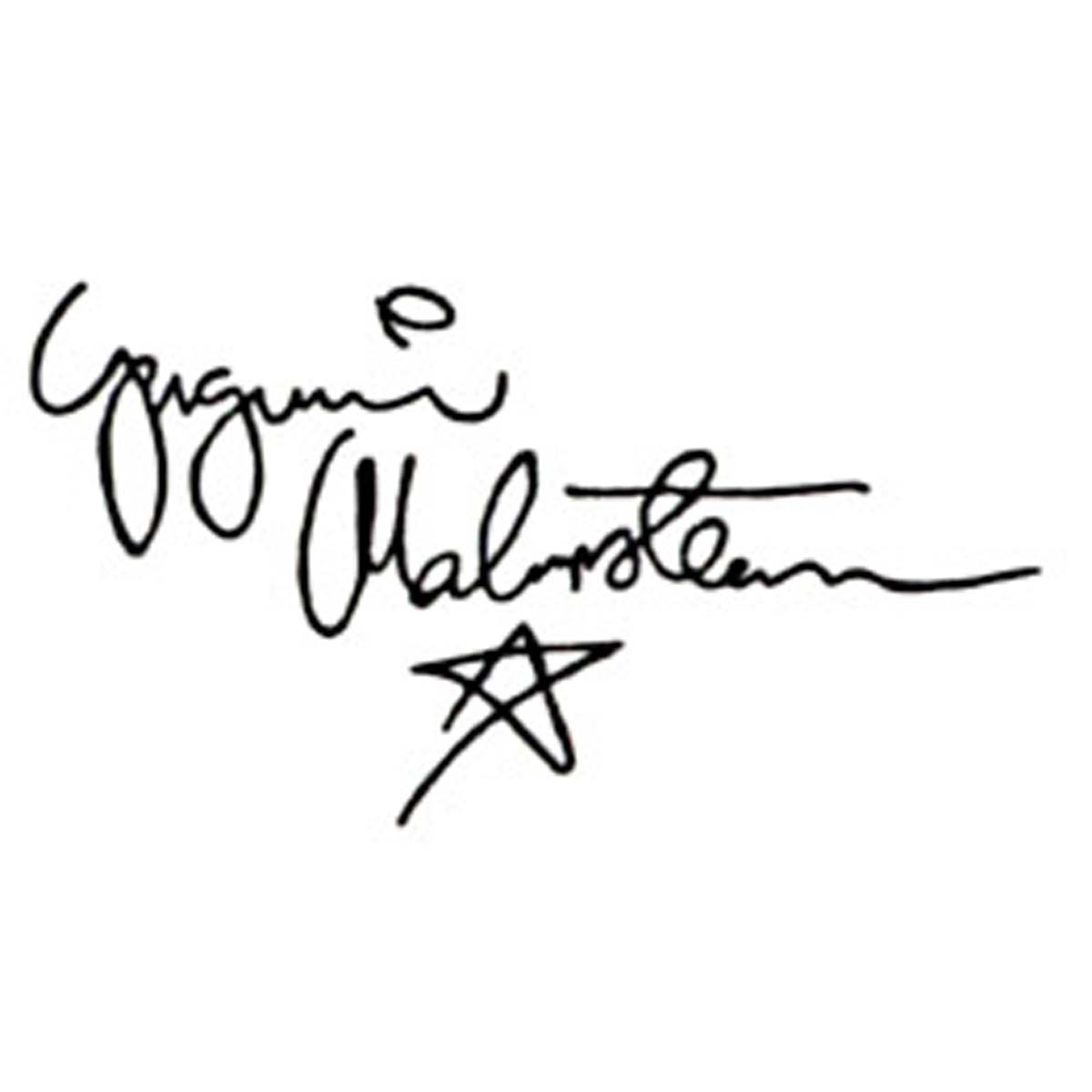 Yngwie Malmsteen Signature Headstock Waterslide Decal