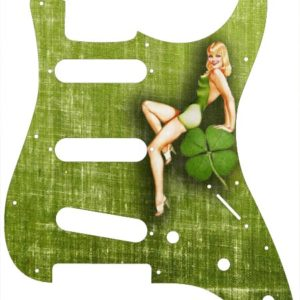 Stratocaster 50s Irish Pinup Girl Pickguard - 2-ply  - CUSTOM ORDER