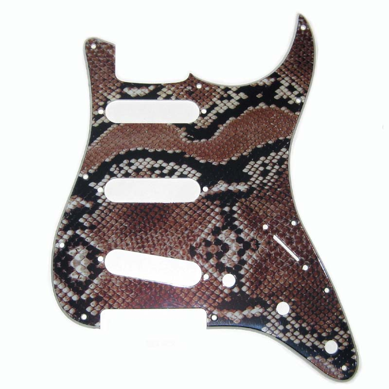 Stratocaster Snake Skin Pickguard - 2-ply - 108