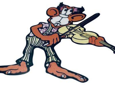 Iommi SG Monkey decal closeup