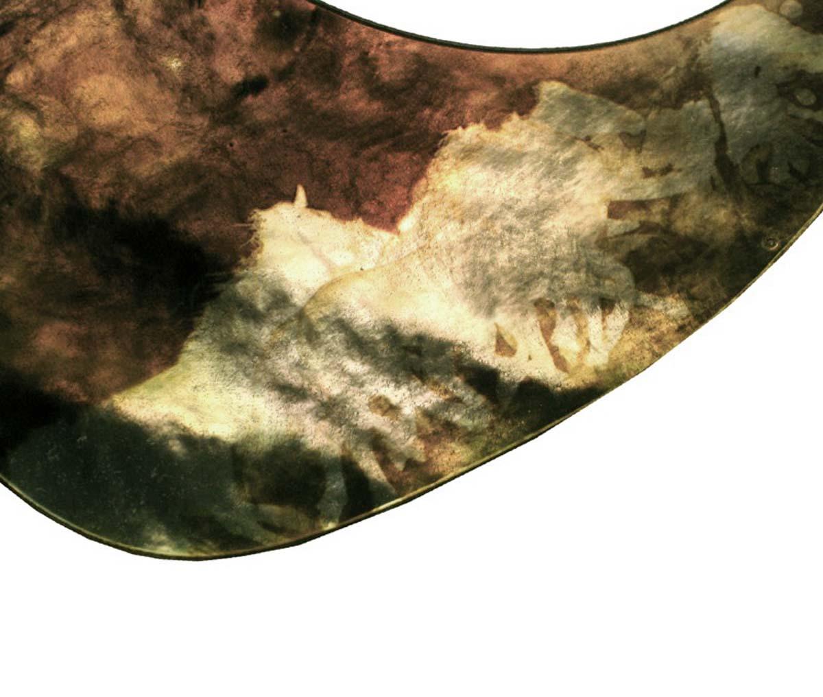 SIGNATURE SERIES:  Iridescent Acoustic Custom Pickguard - Running Horses- CUSTOM ORDER