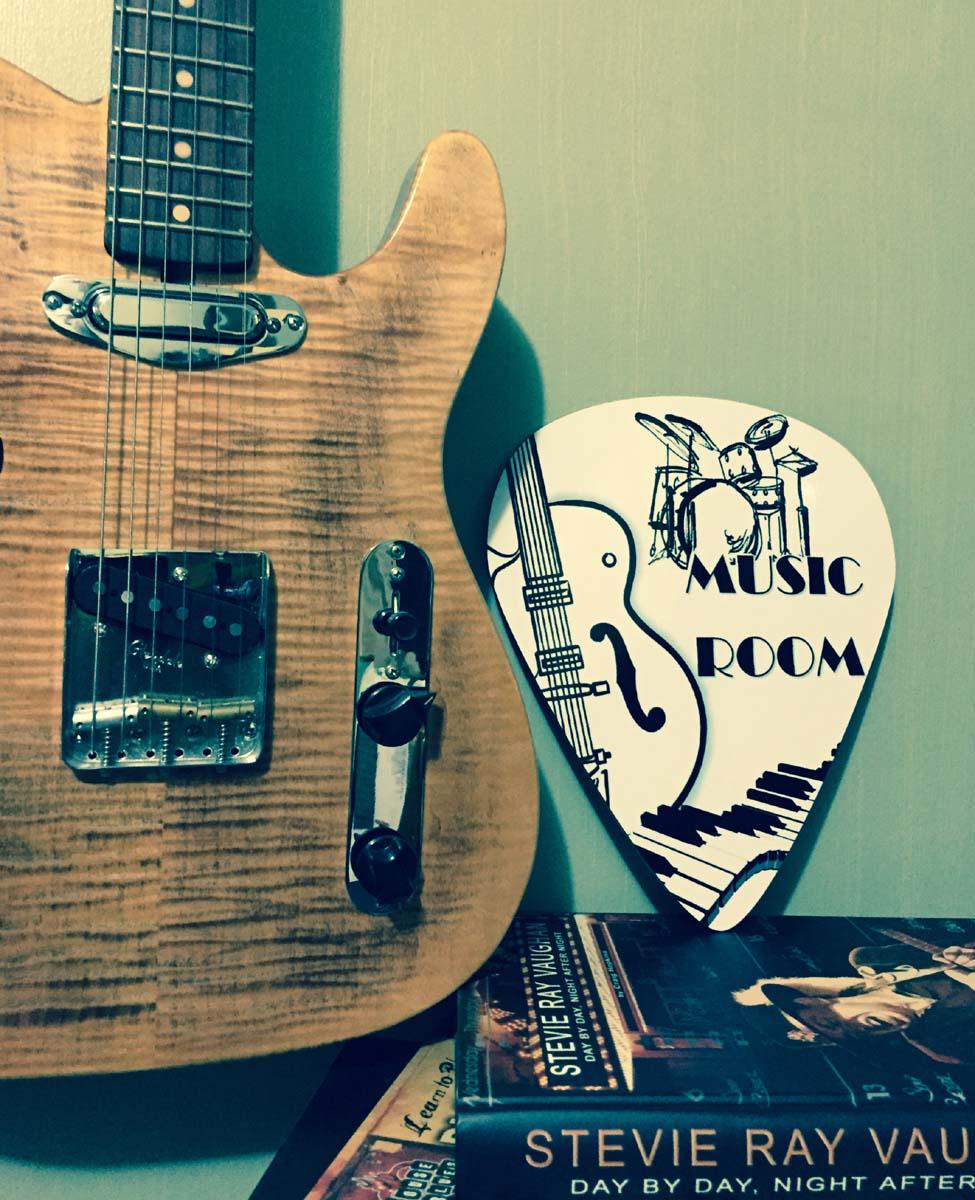 Music Room Giant Guitar Pick Wall Art  - 1114