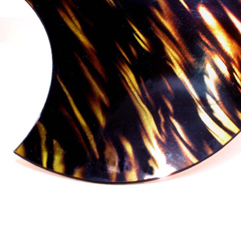 Acoustic Custom Gibson ® Hummingbird Style Pickguard - Iridescent Gold FIRE STRIPE