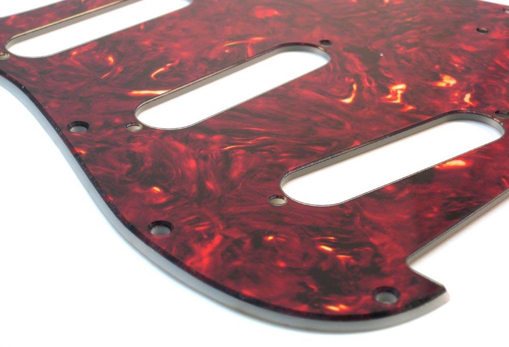 Stratocaster  Pickguard - Maroon Iridescent Tortoise - 2-Ply
