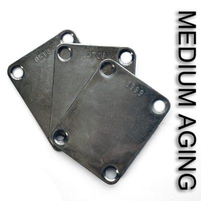 Medium aged vintage stamped neck plate