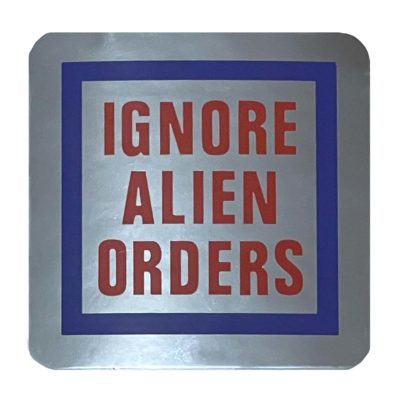 Joe Strummer Ignore Alien Orders Decal Sticker Telecaster