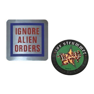 Joe Strummer Ignore Alien Orders Trash Decal Sticker Telecaster