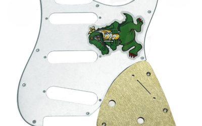 Garcia Alligator Stratocaster Replica Brass Pickguard