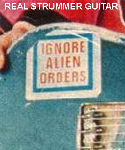 Joe Strummer / Clash Replica Ignore Alien Orders Decal / Sticker