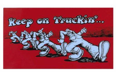 Vintage Garcia Crumb Sticker – Keep on Truckin ALLIGATOR Replica Strat Decal