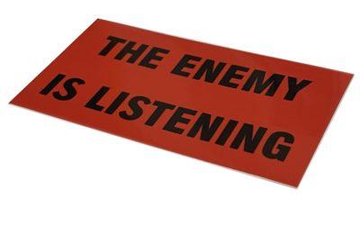 Garcia THE ENEMY IS LISTENING Vintage Replica Sticker – Guitar Decal