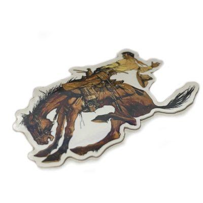 Garcia Alligator Strat Cowboy Sticker closeup