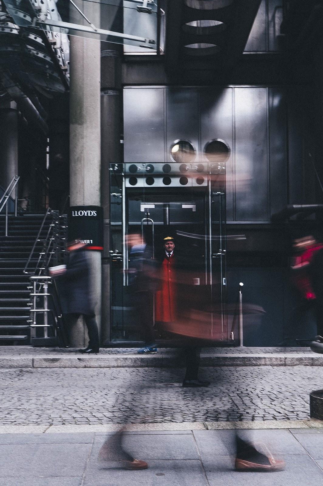 People walking blur