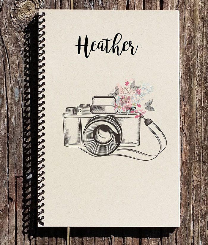 Personalized Camera Notebook