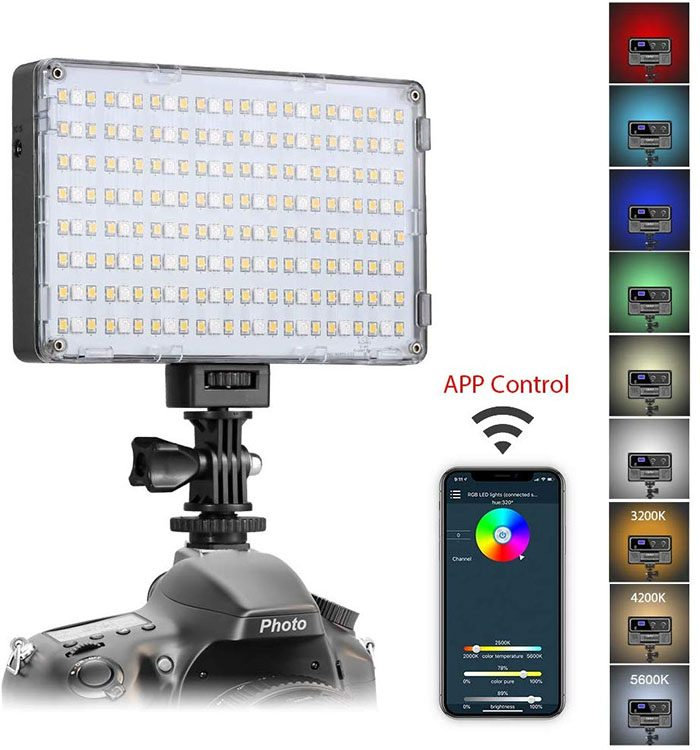 LED Colored Camera Light