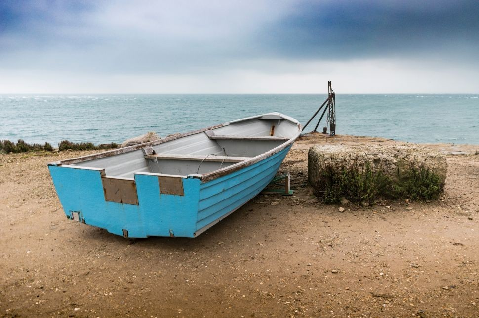 Image of a boat on the beach