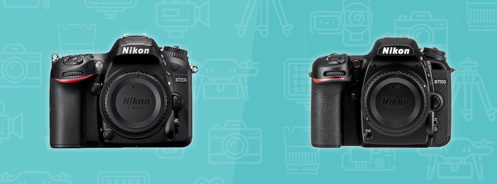 Nikon D7200 vs D7500