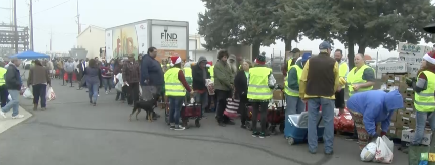 FIND Food Bank Anza distribution