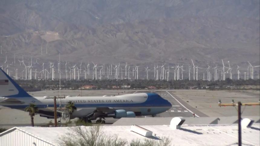 President Trump slams Palm Springs windmills during rally speech - KESQ