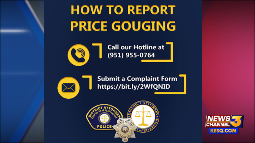 PRICE GOUGING HOTLINE
