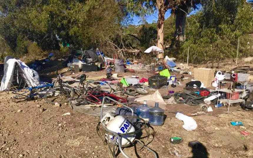 Homeless camp  Los Patos