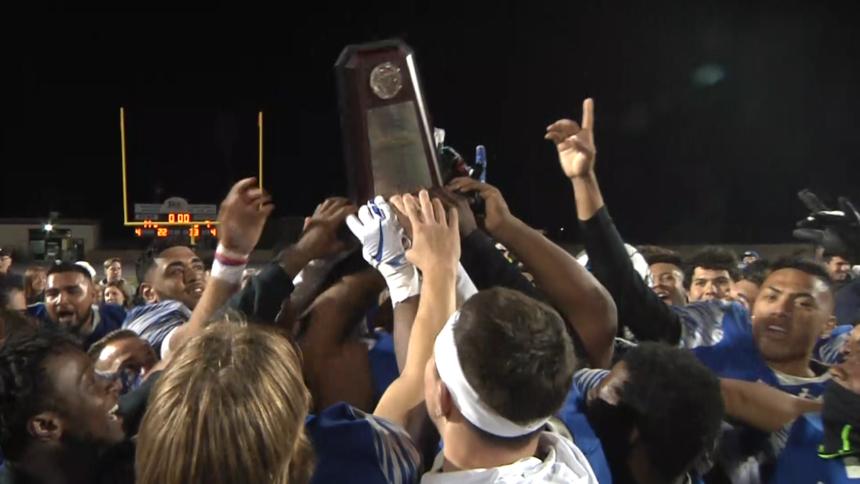 Hancock Football wins Western State Bowl