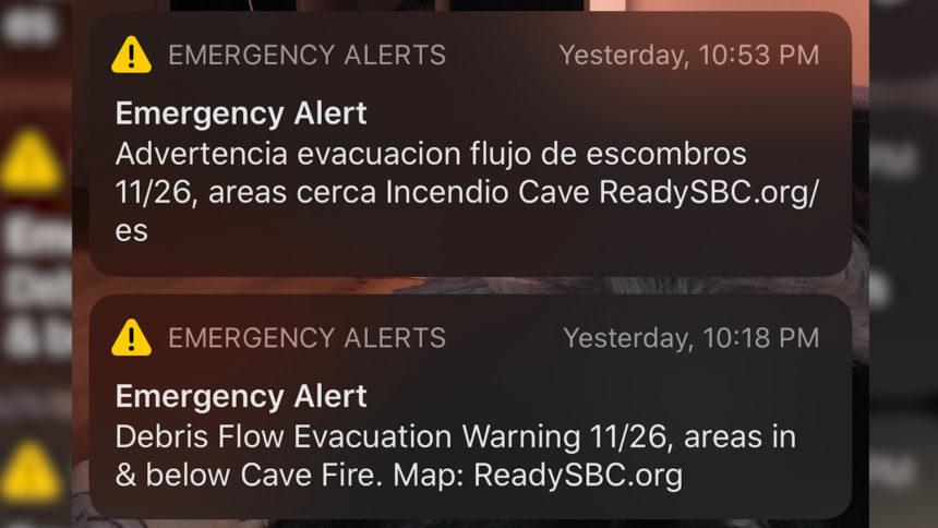 Debris Flow alert