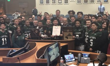 Pacifica high school football honored at Ventura County Board of Supervisors