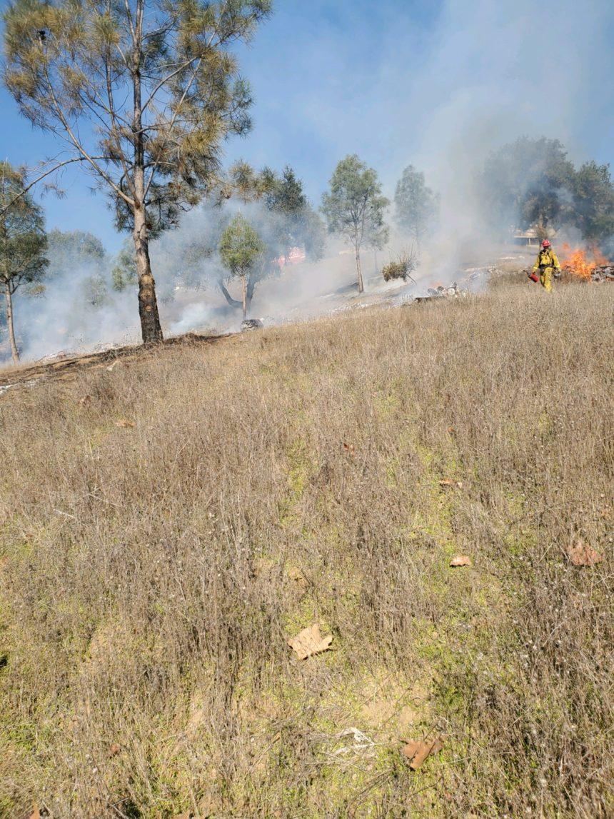 Lake Nacimiento pile burns