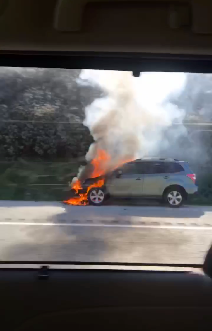 refugio state beach car fire
