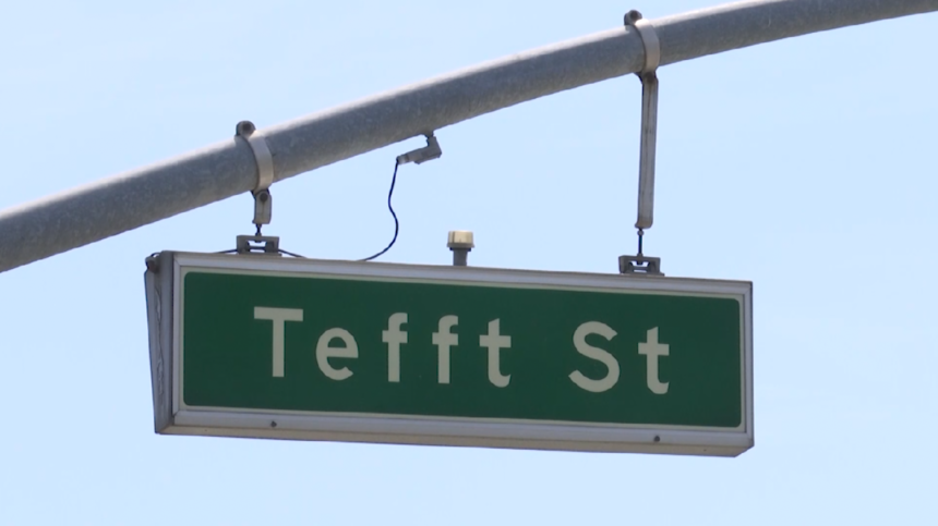 Tefft sign