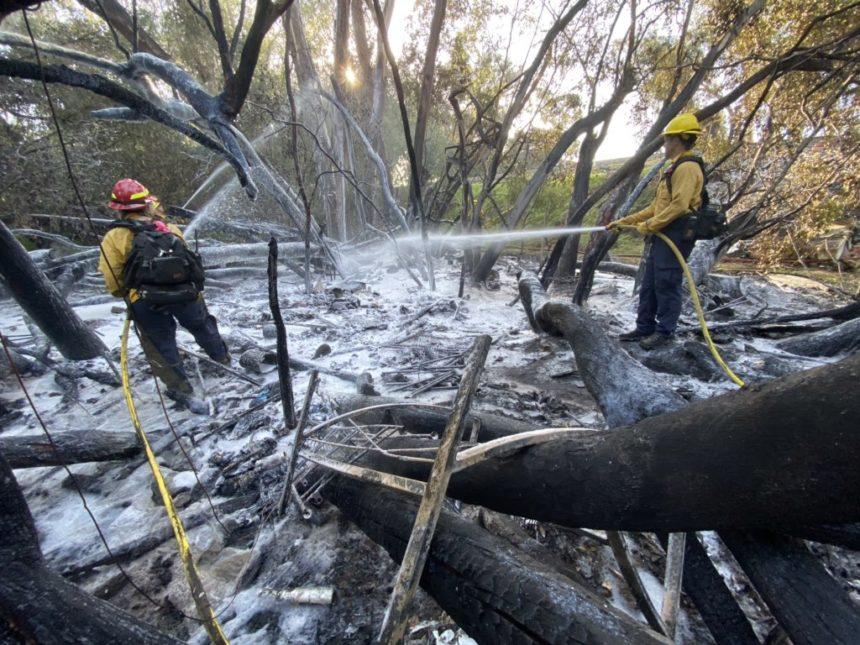 Goleta Homeless encampment fire