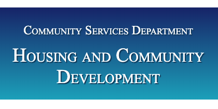 Community Services Department Housing and Community Development
