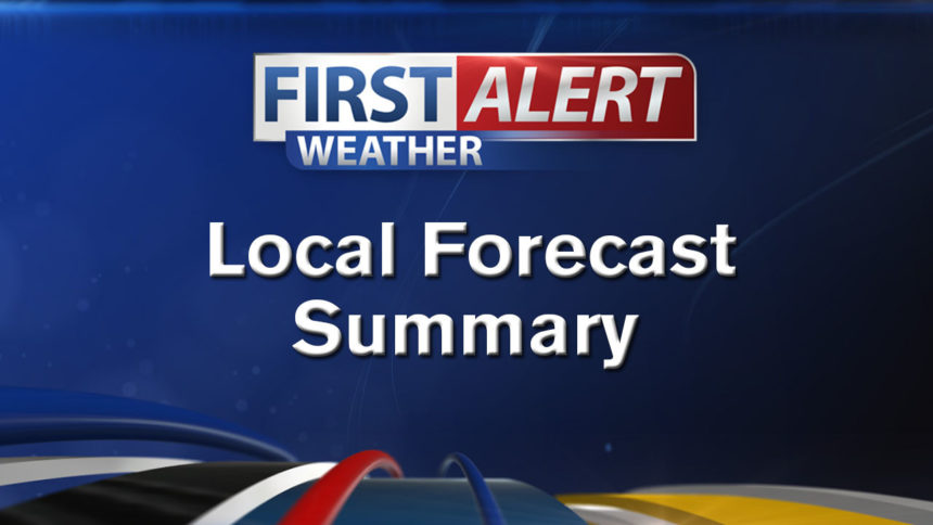 First Alert Weather local forecast Summary