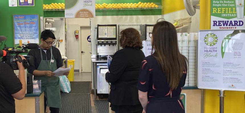 Santa Barbara Leaders visit businesses