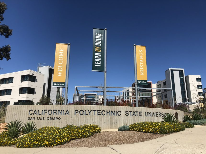 Cal Poly entrance sign