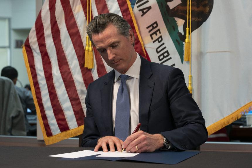 newsom signs emergency legislation