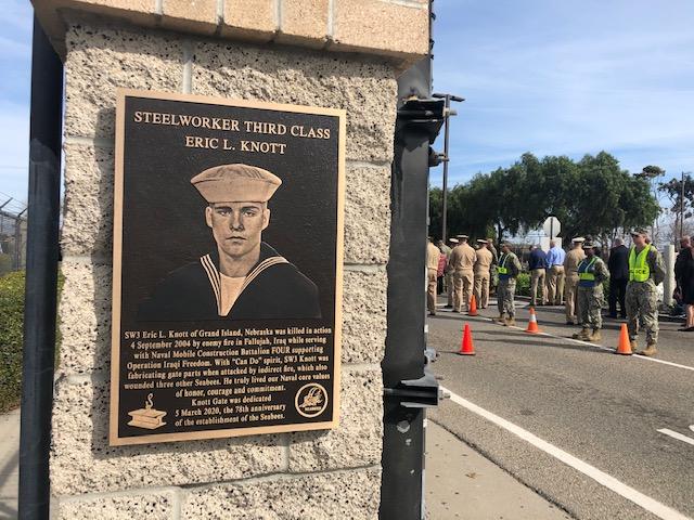 Naval Base Port Hueneme renaming gate after fallen sailor