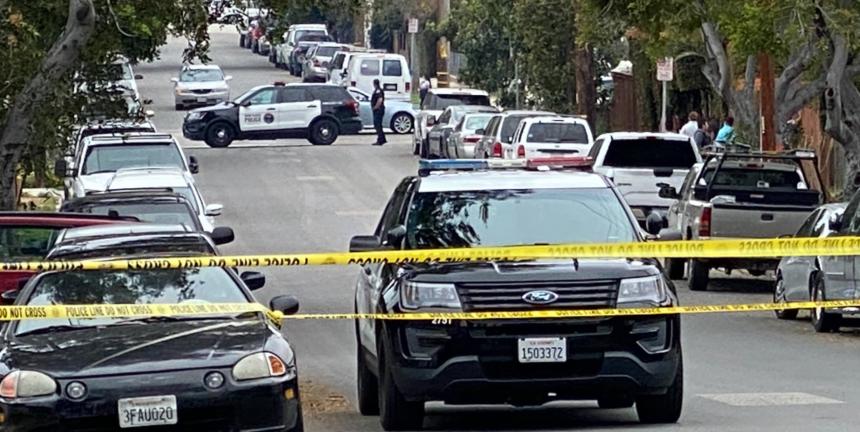 Police scene Santa Barbara