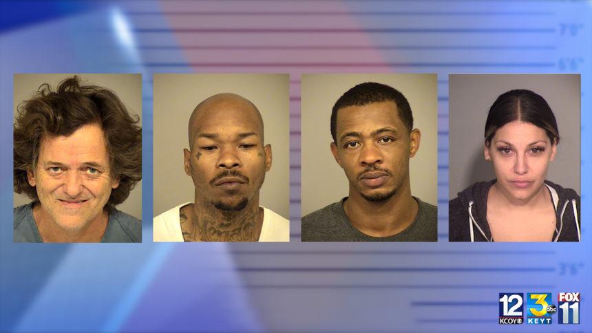 four drug arrests