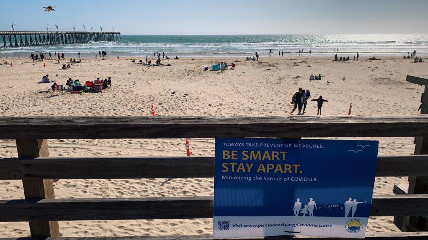 Social Distancing at Pismo Beach
