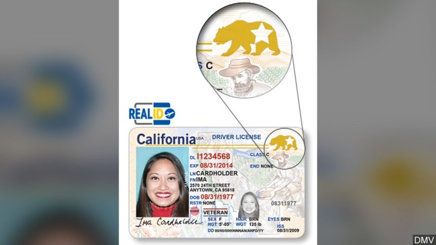 California real ID graphic