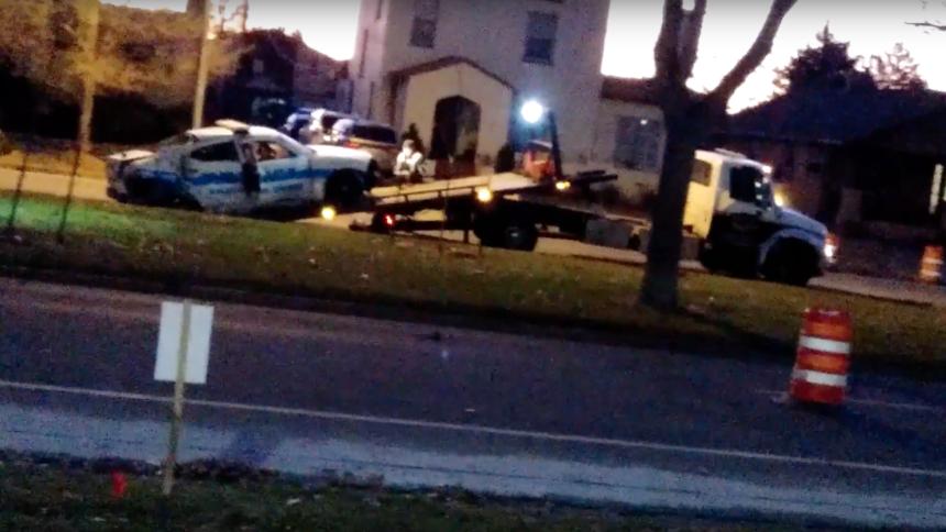 Colorado springs police car crash Cropped