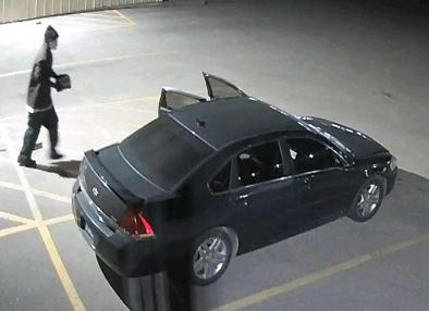 suspect and car