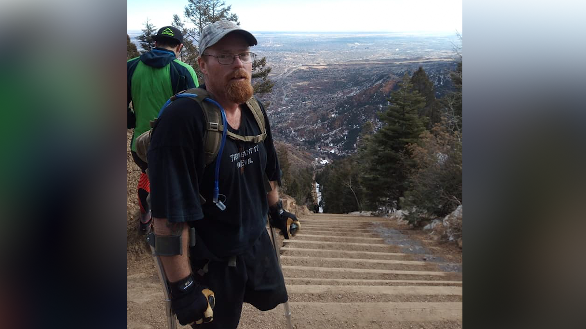Jerrod Evans at the top of the Manitou Incline, Facebook