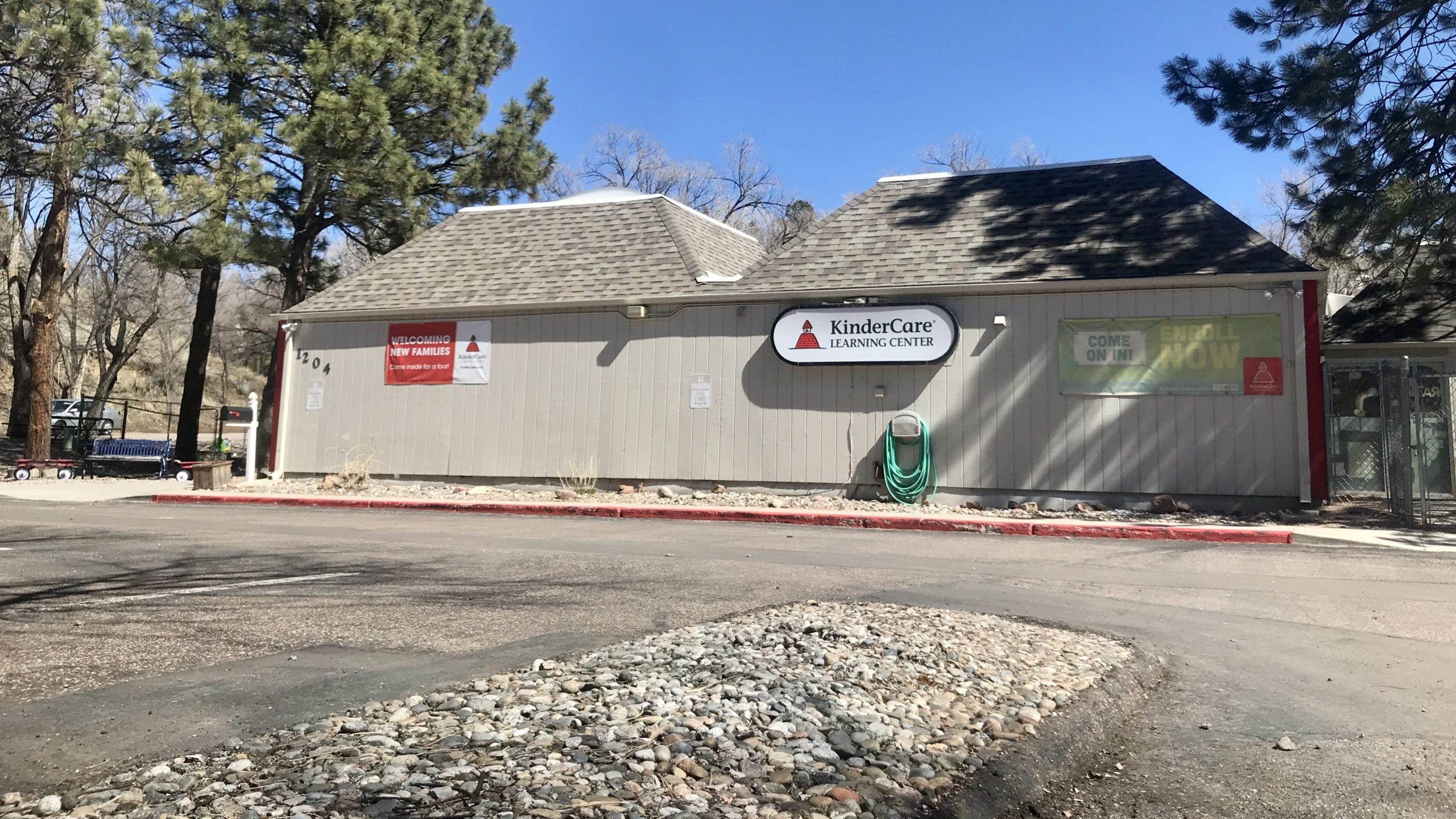 KinderCare on Mesa Road in Colorado Springs, where parents were told one child tested positive for COVID-19 Monday.