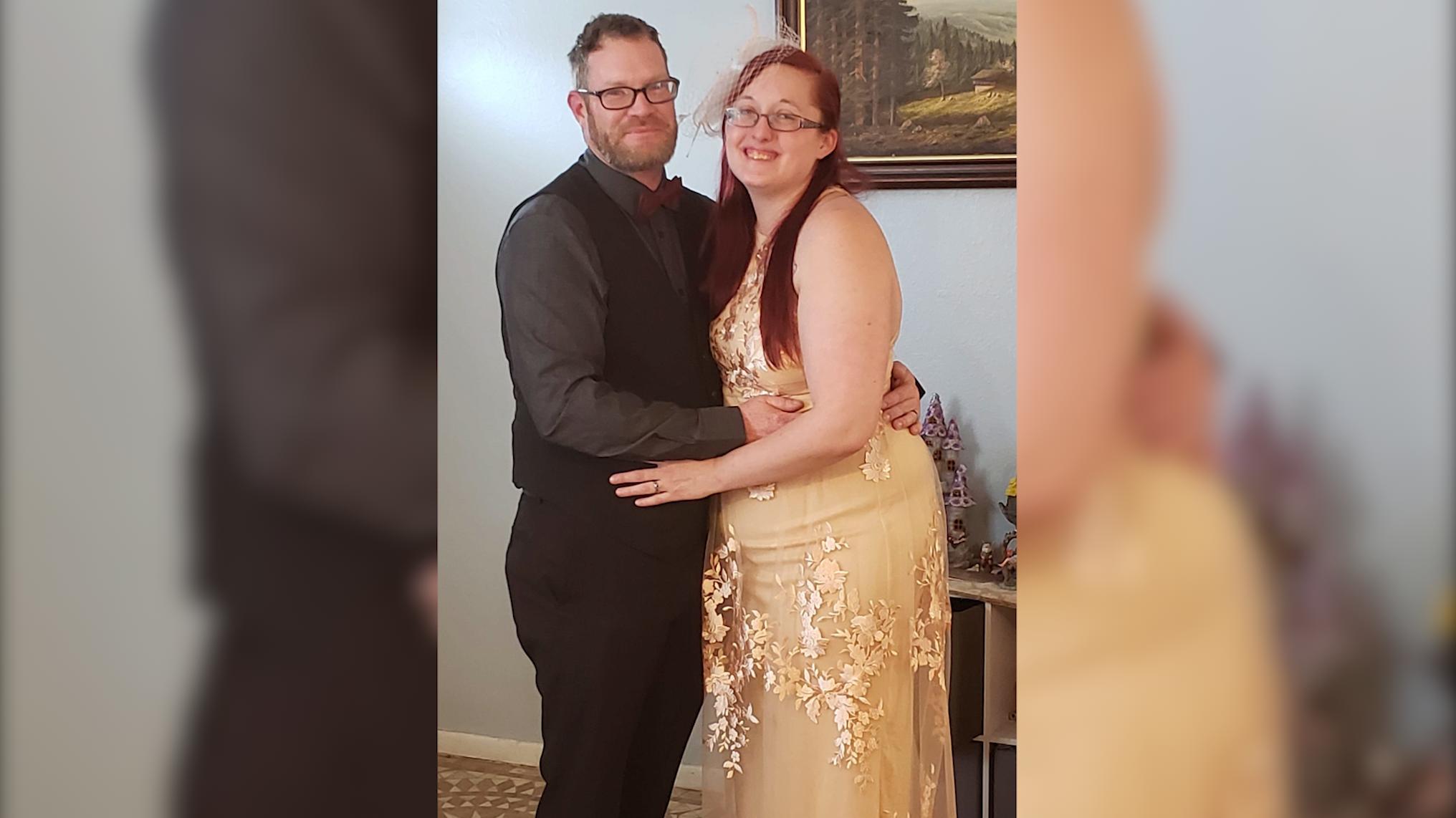 AJ and Kat Warner's at-home wedding